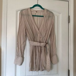 Free People Back in the Spotlight belted top sz M